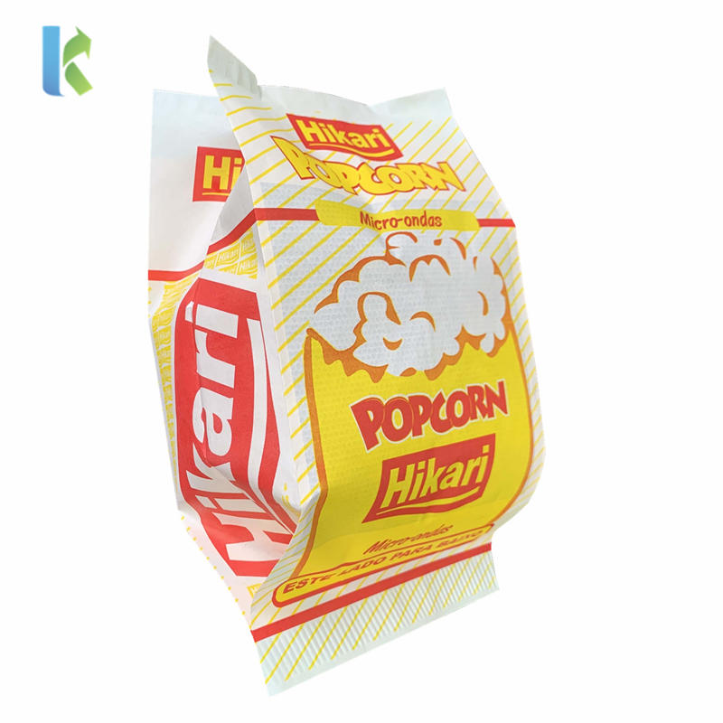 Packaging Bulk Greaseproof New Design Large Logo Paper Bags For Printed Sealable Wholesale Popcorn
