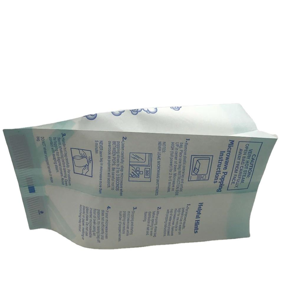 factory craft paper bolso logo large microwave wholesale sealable large bag popcorn