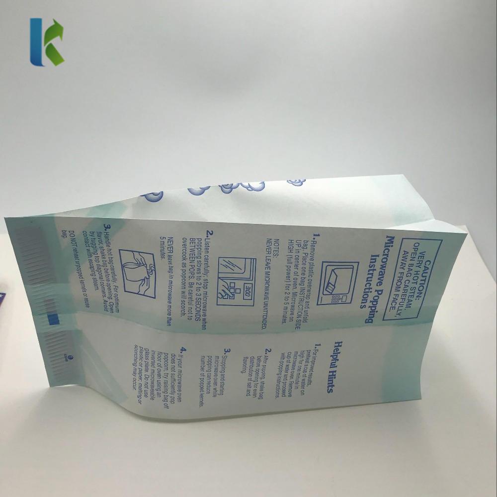 Logo Greaseproof Bulk Large CornBolso Sealable Factory Microondas Wholesale Microwaveable Paper Popcorn Bag