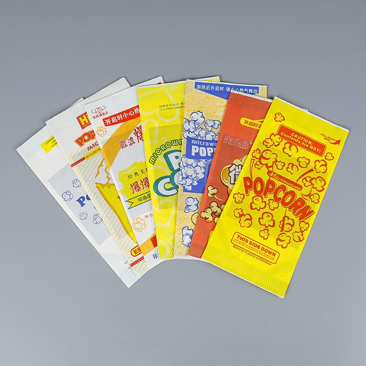 Food grade microwave bags for popcorn packaging