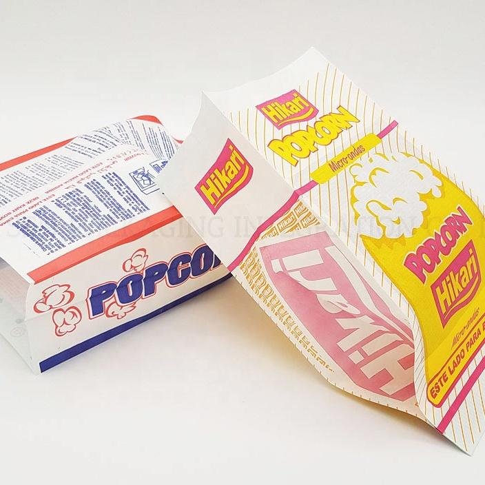 Microwave popcorn paper greaseproof bags