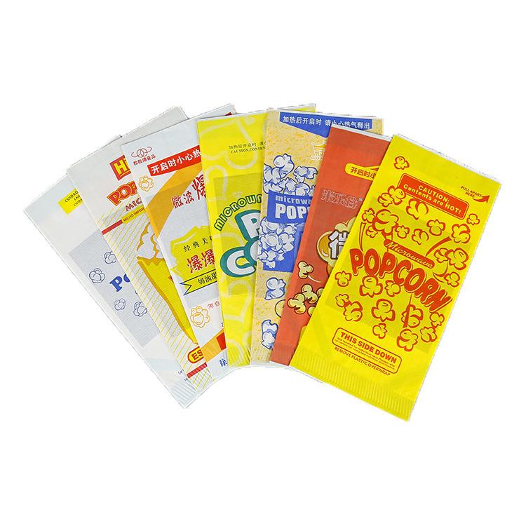 New oil Moisture Proof Kraft Paper Microwave Branded Popcorn Bags
