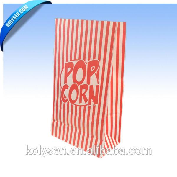 Logo printed microwave popcorn bags /greaseproof paper popcorn packaging bags for 70g 120g
