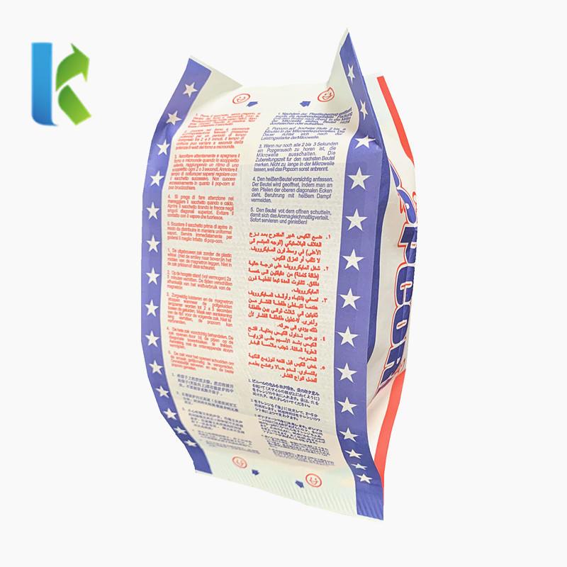 Food Grade Disposable Microwave Popcorn Packaging Bag