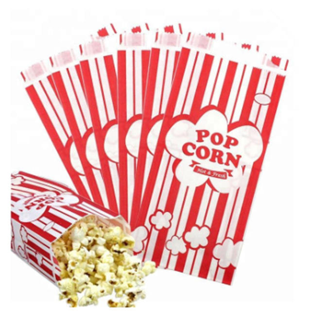 Food grade paper bags for popcorn packaging