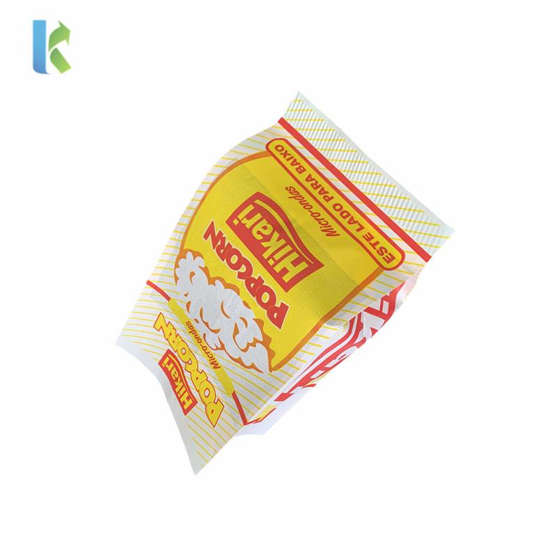 Microwave Sealable New Large Printed Custom Popcorn Bag Logo Design Bulk Wholesale Greaseproof