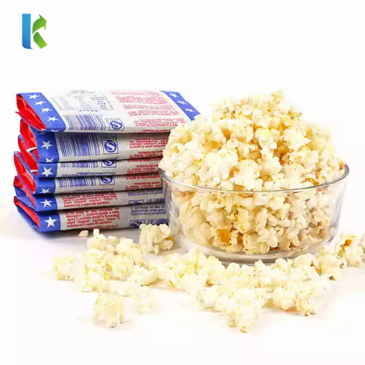 Large Greaseproof New Packaging Logo Bulk Design Popcorn Printed Sealable Wholesale Paper Bags For bags