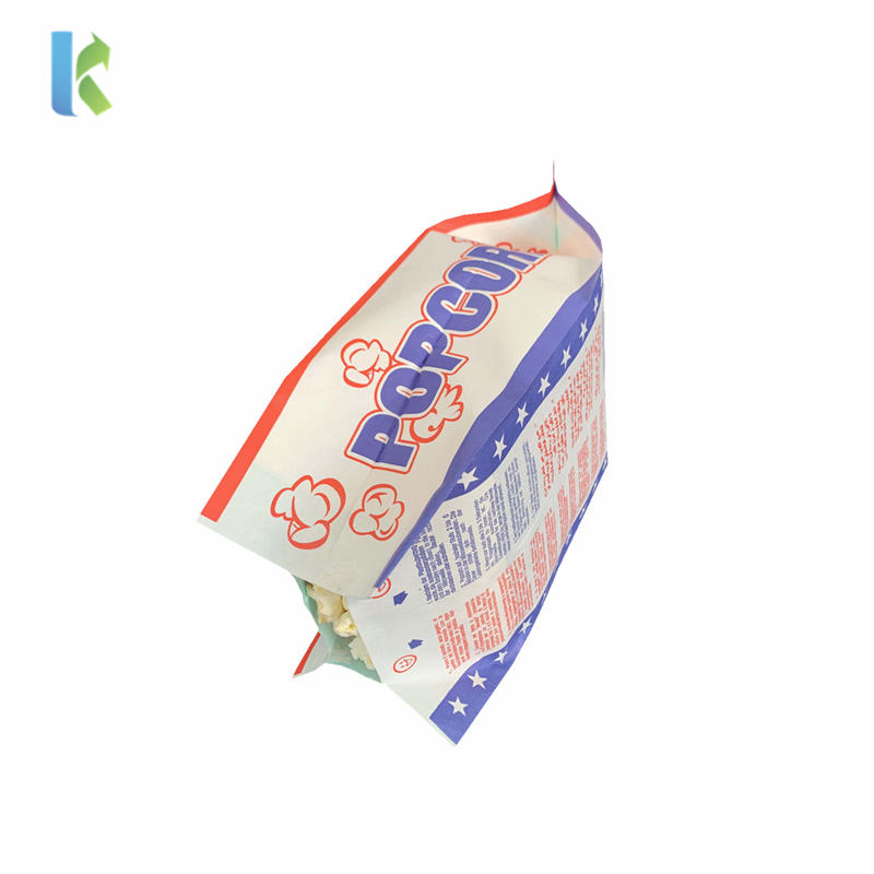 Factory Greaseproof Microondas Sealable Logo Large Corn BulkBolso Wholesale Craft Popcorn Packaging
