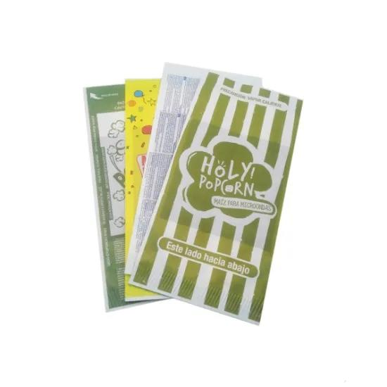 Popcorn Microwave Bag Para Factory Large NewGreaseproof Bulk Logo Microondas Sealable Wholesale Craft Kraft