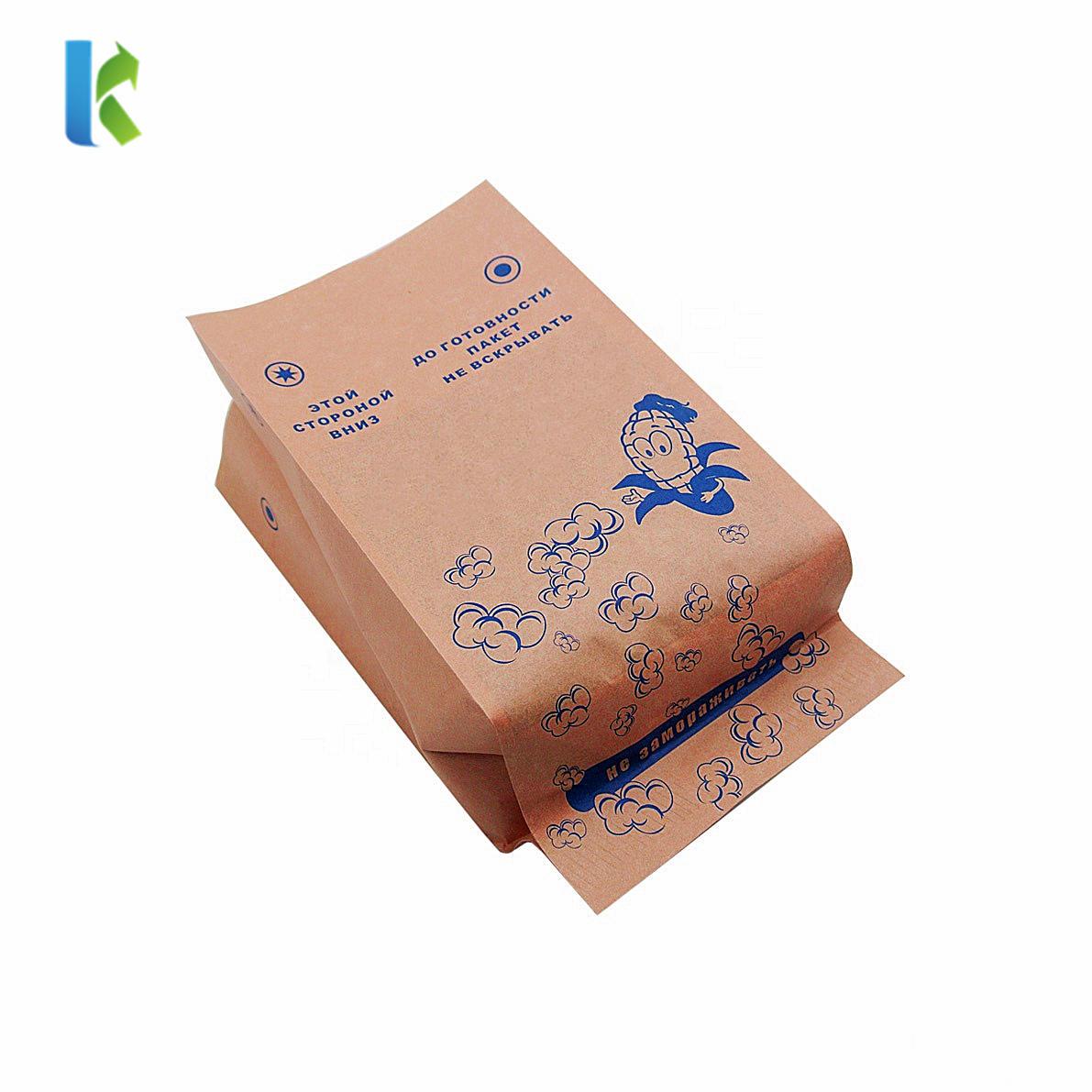 Bag MicrowaveablePaper Popcorn Greaseproof Microondas New Para Large Logo CornSealable Bolso Wholesale