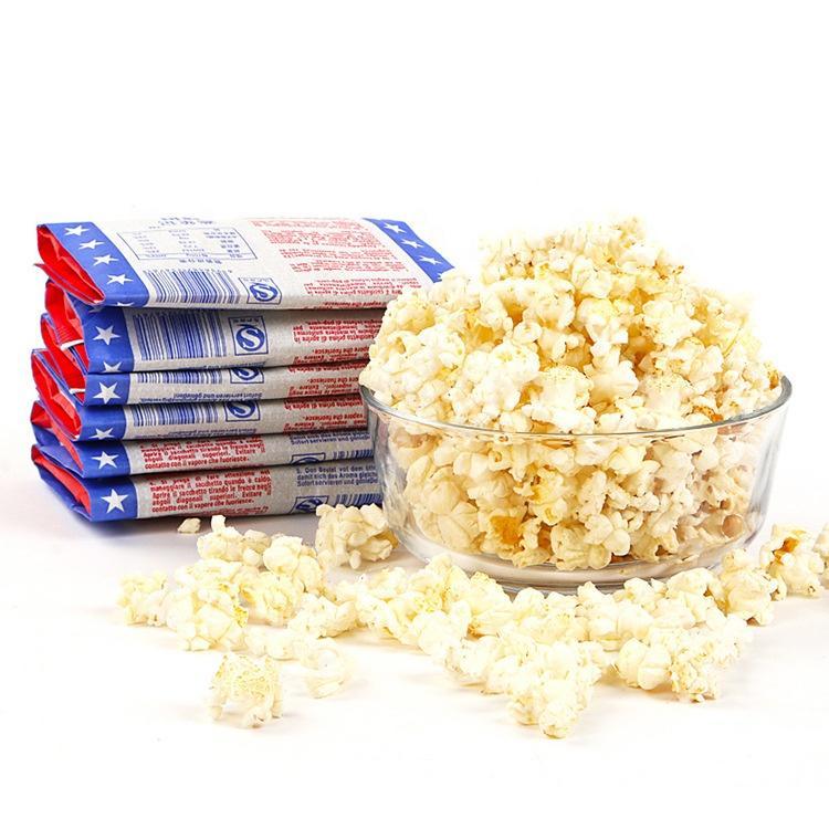 Custom printed food grade heat sealable microwave popcorn kraft paper bags China supplier