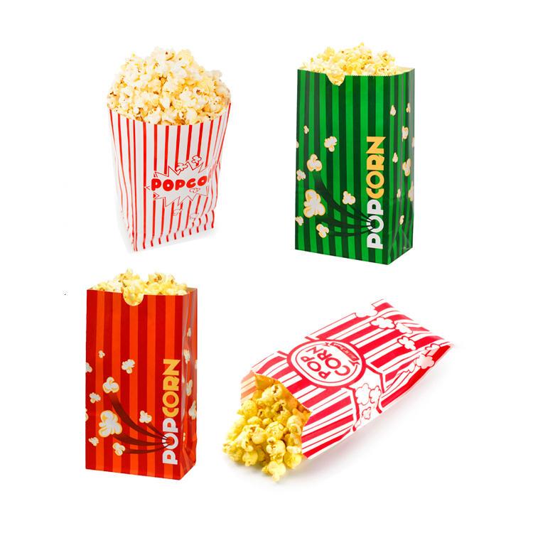 Custom Personalized Logo Printed Food Grade Kraft Brown Popcorn Package Pop microwave Corn Paper Bags