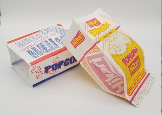 microwaveable greaseproof bulkpaper wholesale logo corn kraft paper bags for popcorn packaging