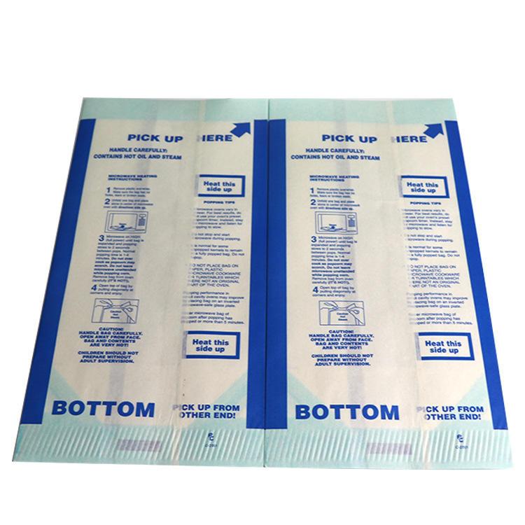 Directly Factory Custom Logo Print Kraft Greaseproof Microwave Popcorn Packaging Paper Bag
