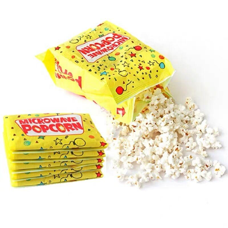 Custom printing food grade heat seal microwave popcorn package paper bag free sample availableExport from China