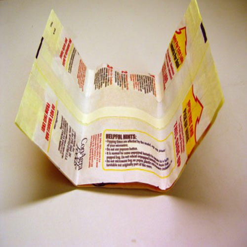 Factory price and high capacity pinch bottom microwave popcorn paper bag