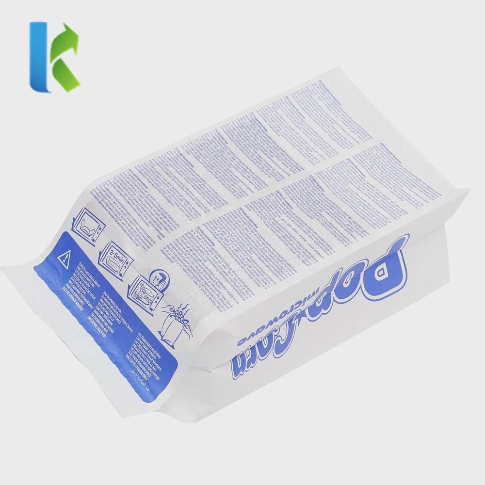 Factory Safe Food Grade Disposable Microwave Bag Microwave Popcorn Packaging Bag