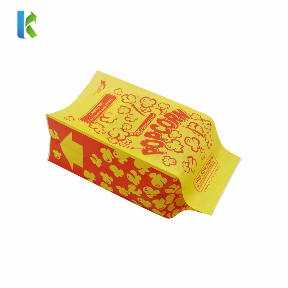 Logo Design Bulk Greaseproof New Packaging Large Popcorn Printed Sealable Wholesale Paper Bags For bags