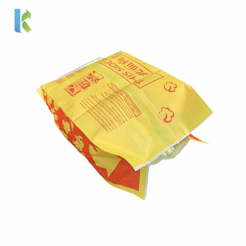 Microwave Custom Greaseproof Paper Large Logo Wholesale Printed New Design Craft Paper Popcorn Bag