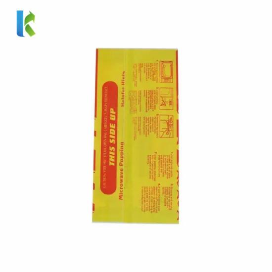 Microwave Greaseproof Custom Paper WholesaleLarge Logo Printed New Design Craft Paper Popcorn Bag