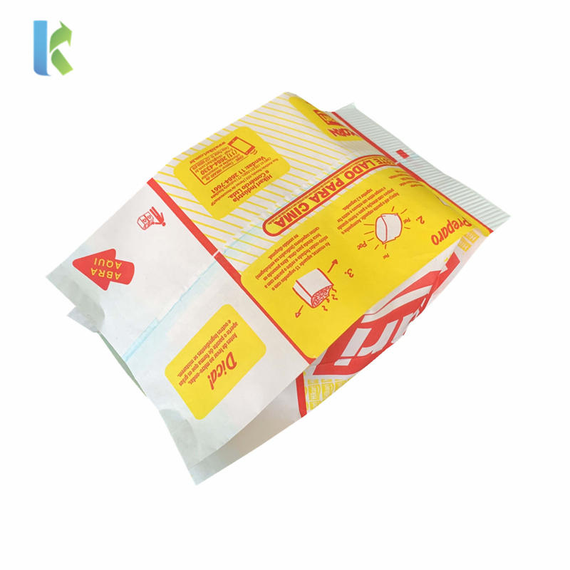 craft microwave printed sealable paper bolso logo packaginggreaseproof custom pop corn bags