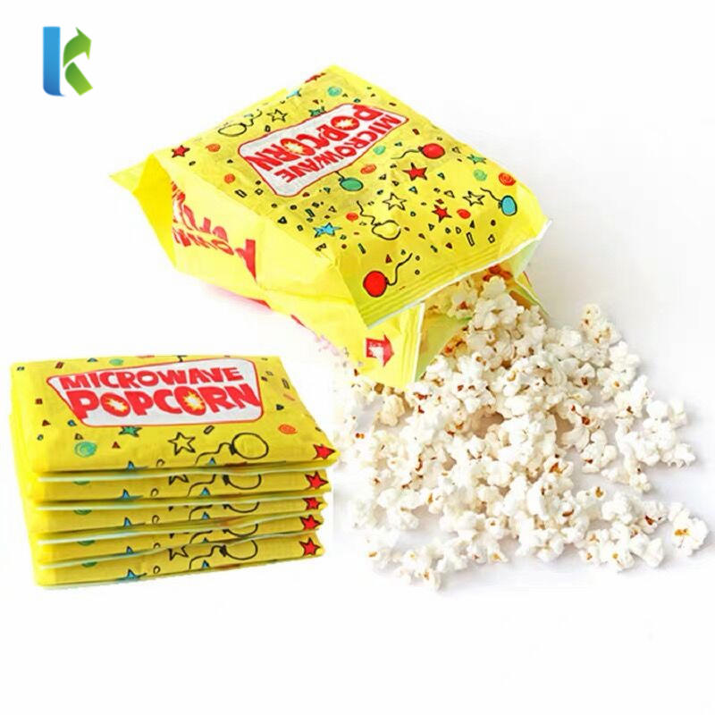 Bulk Logo New Large Corn Wholesale Para FactoryKraft Craft Sealable Microondas Bolso Popcorn Printed Bag
