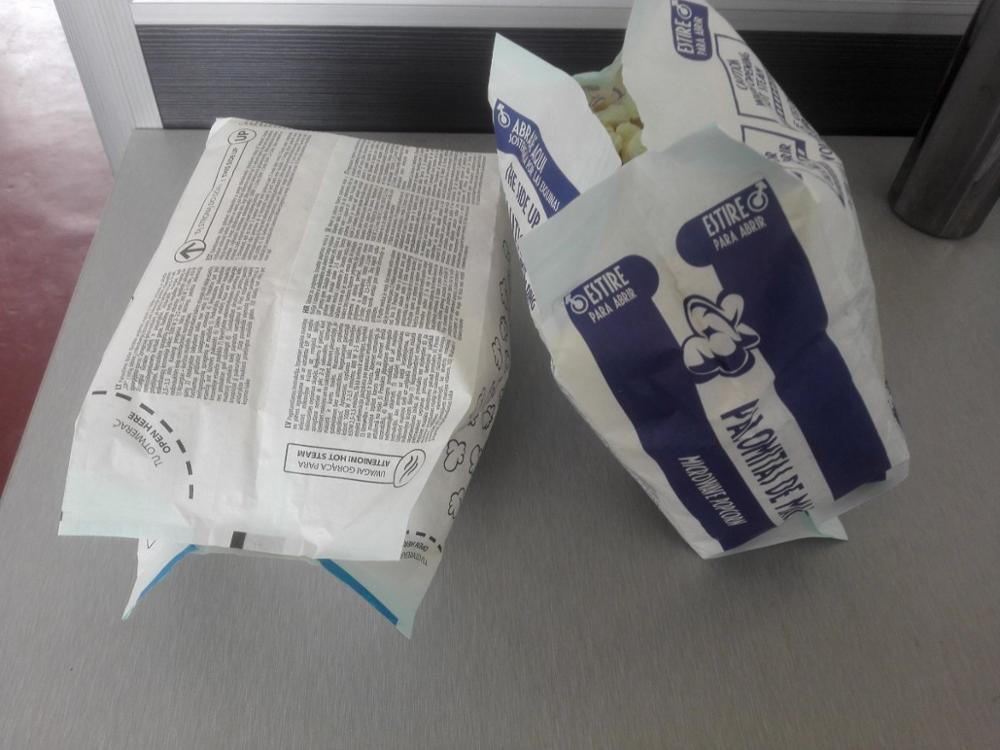 greaseproof microwave popcorn bag