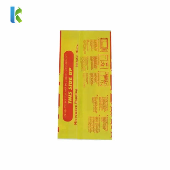 Microonda Sealable Para New Greaseproof Logo Factory Paper Large Wholesale Corn Bulk Sealable Bolso Bags For Popcorn Packaging