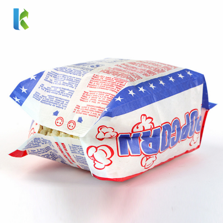 Microwave Design Printed Logo Sealable Custom paper New Greaseproof Wholesale Bulk large bag popcorn