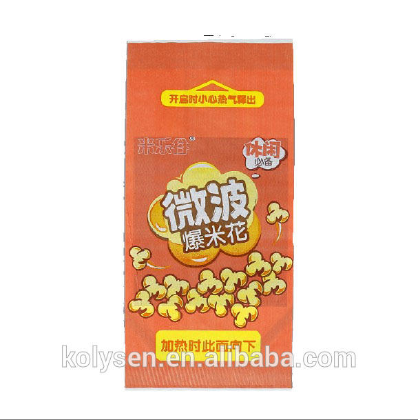 2018 new design hot sale microwave popcorn packaging bags paper bag