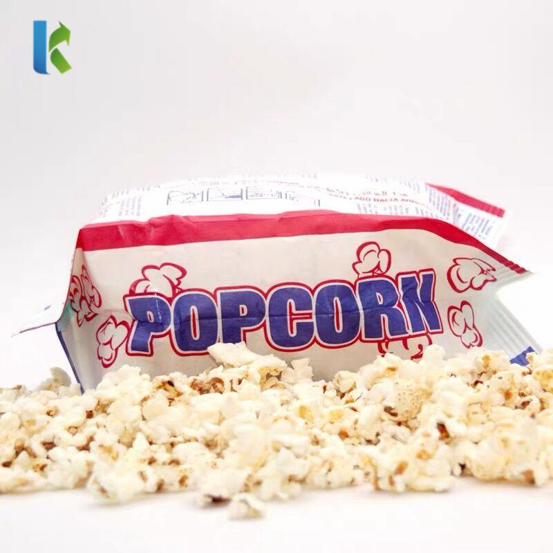 BagsPrintBolso Popcorn Corn Factory Custom Large Sealable Bulk New Wholesale LogoKraft