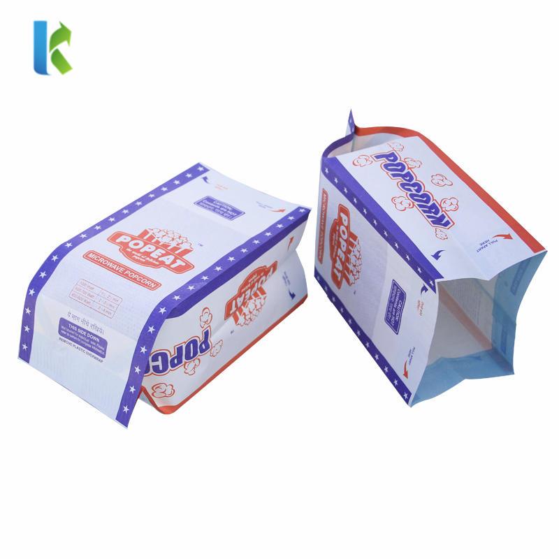 Wholesale Logo Microwave Paper Greaseproof Large Custom Printed New Design Craft Paper Popcorn Bag
