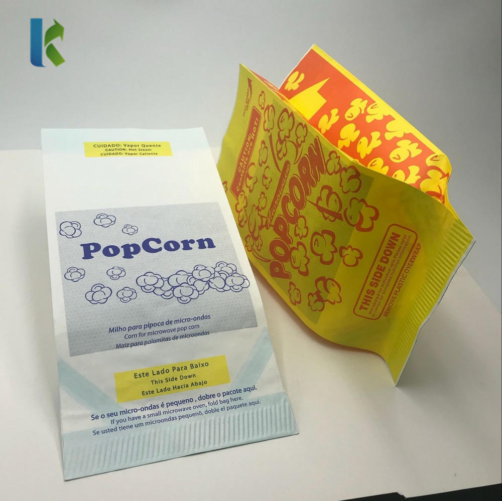 Logo Factory Para Sealable Microonda Large Corn Bulk New GreaseproofBolso Wholesale Paper Bags For Popcorn Packaging