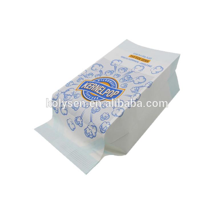 Custom Printed Microwave Popcorn Bag, Popcorn Paper Bag, Microwave Bags for Popcorn