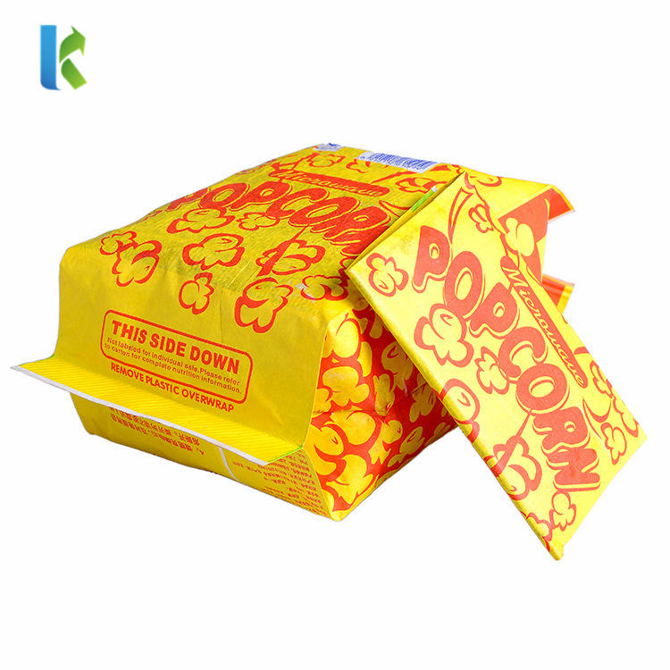 Large Para Greaseproof New Wholesale Bulk Sealable CornBolso MicroondasLogo Factory Craft Popcorn Packaging