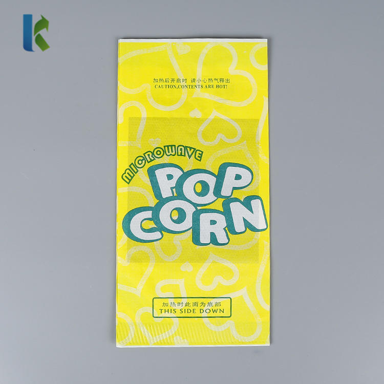 Bulk Design Whole saleDesign Wholesale NewGreaseproofpaper LargeLogo Printed Sealable Custom packaging for popcorn