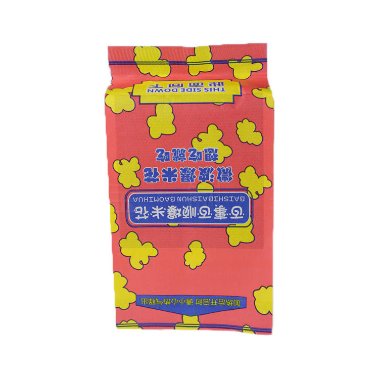 Direct Factory Price Custom Logo Print Kraft Greaseproof Microwave Popcorn Paper Packaging Bag