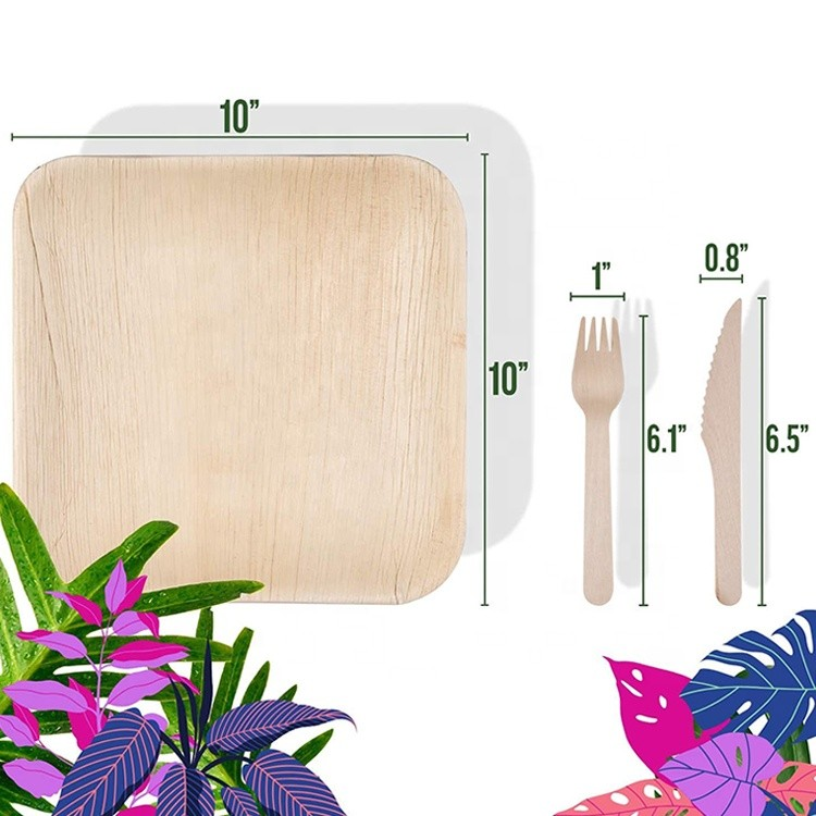 Disposable Eco-Friendly Natural Palm Leaf Plates,Compostable 4''6''7