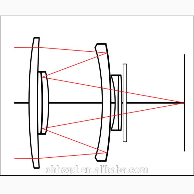 Optical mirror lens led street light lens