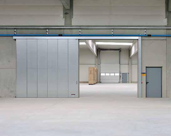 Industrial gate warehouse sliding door