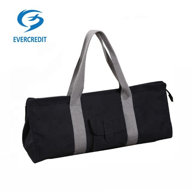 Large exercise canvas yoga mat bag tote carrier with pocket and durable strap sports gym bags