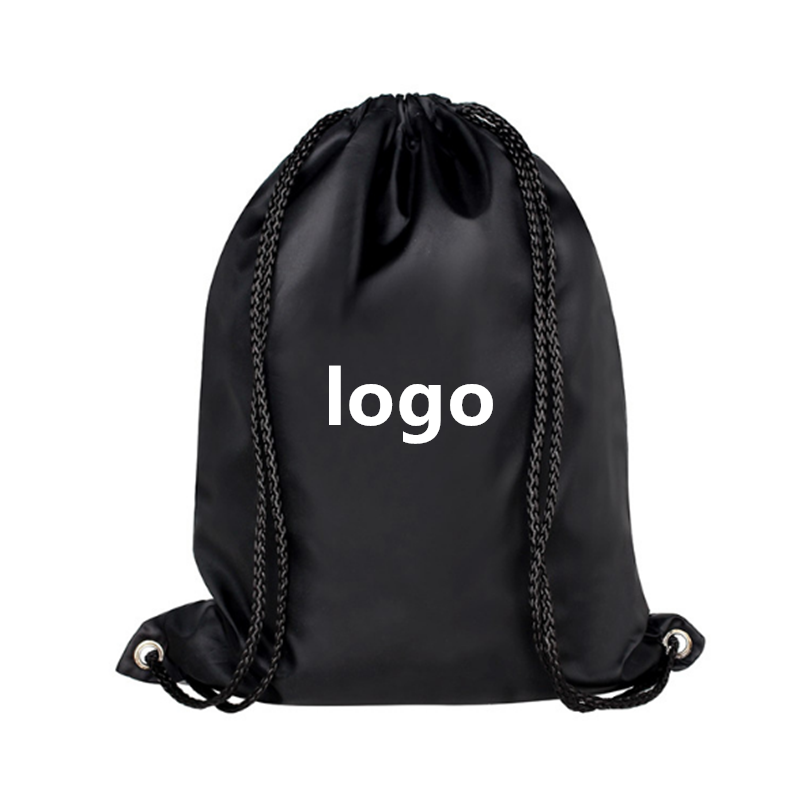 2018 High Quality Custom Logo Printed Recyclable Polyester Material Sports Gym Bag drawstring bag