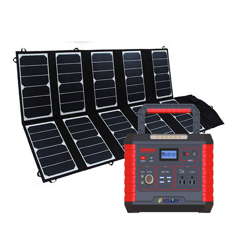 For Security Small Power Camping Outdoor 300w All In One Portable Mini Home Generator Solar Energy System