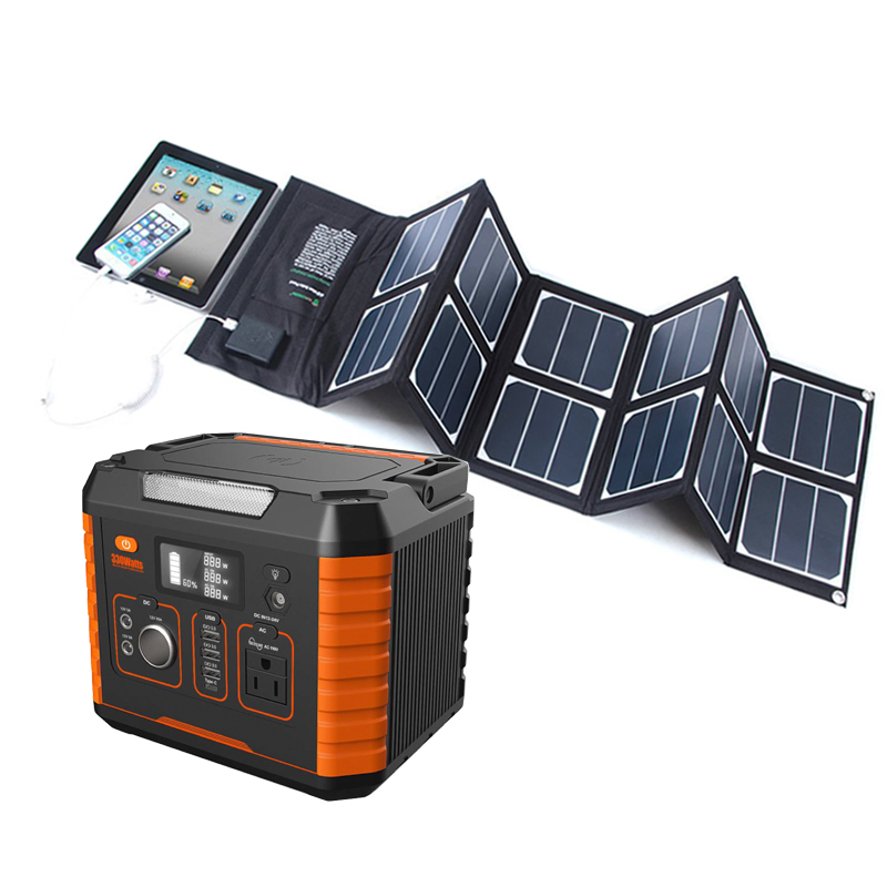 Panel Off-grid 48v 96v 200w 300w Generator Solar Energy Portable Lithium Battery Home Backup Ac Power System