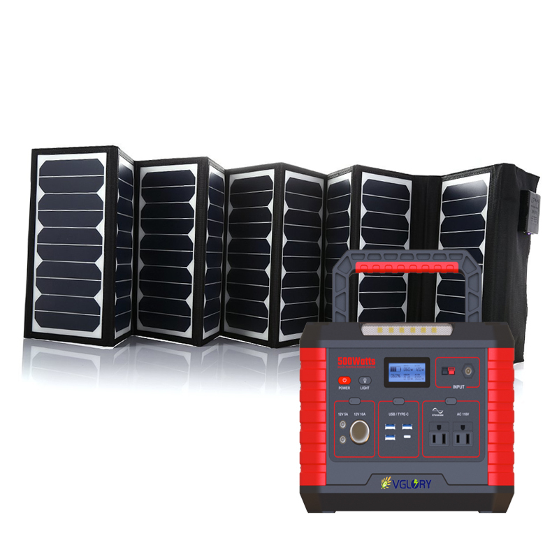 Home Flexibility Camping Ac Off Grid System Portable Generator Energy Solar Charge Battery Power