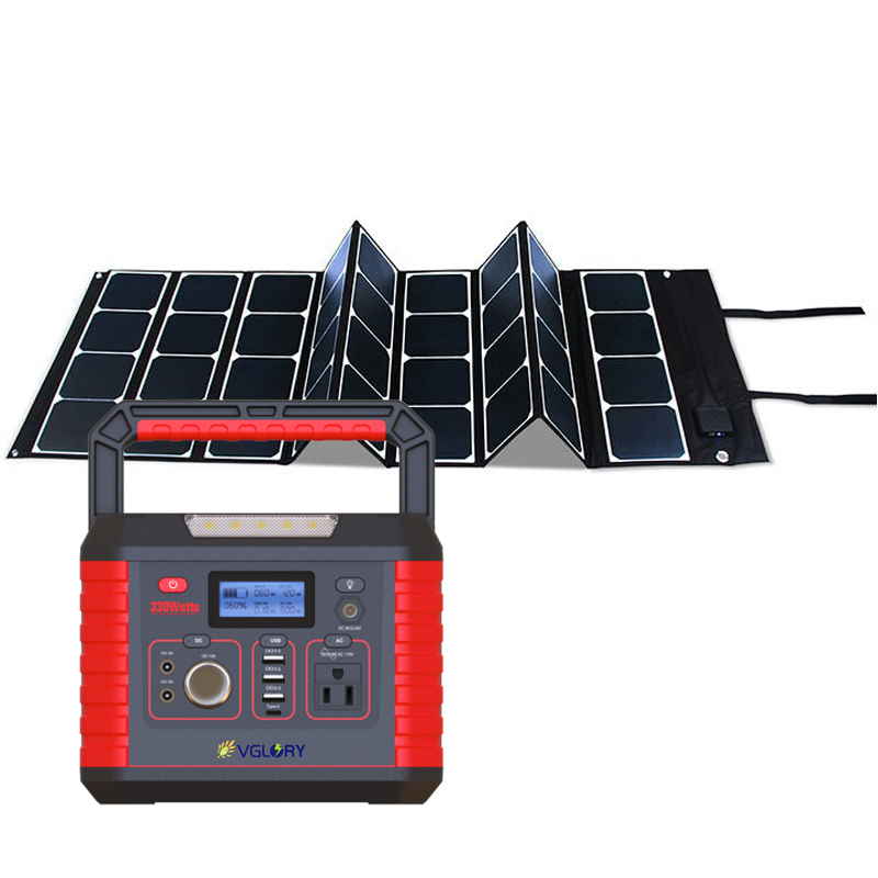Supply 300w 220v500w Off-grid 346.3wh Intelligent Panel 200wh Lithium Solar Power Home Light System