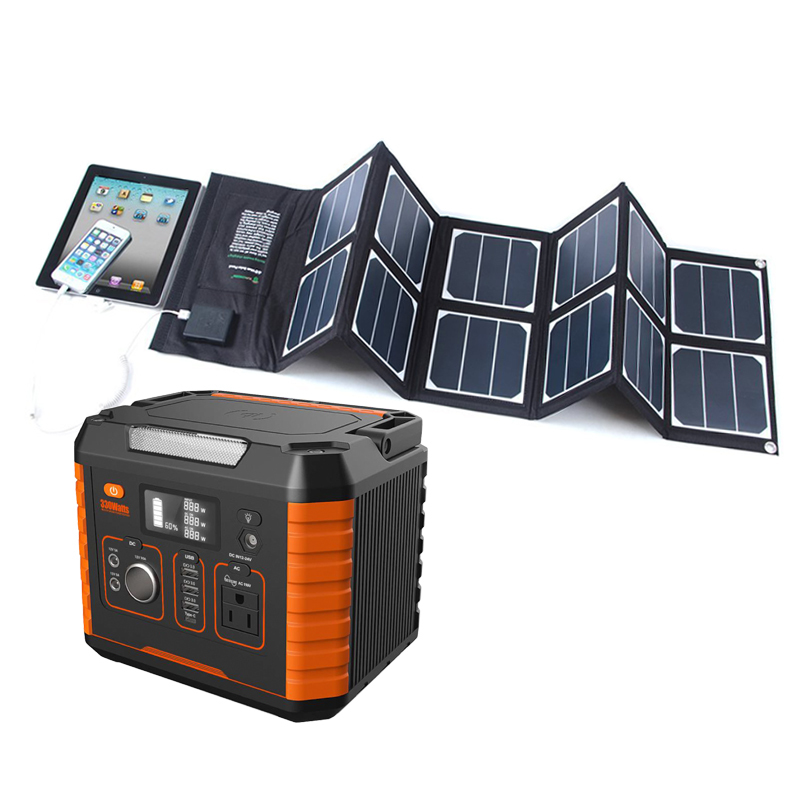 Grid China 500va 200w 300w Panel Mobile Power Rechargeable Lithium-ion Portable Solar Energy Battery System