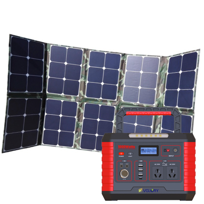 Fast Shipping 1000wh 1000w Large Capacity Power Small Hot Sales Rv 500w Original Portable Solar Generator