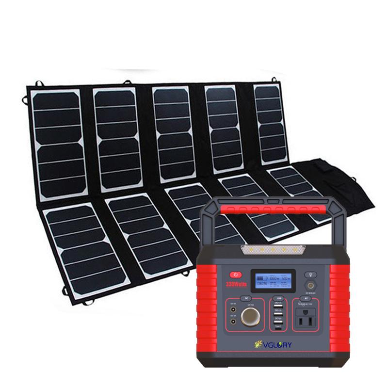 Silent 300w 110v Ac Mini Storage Energy System With Mppt Controller 52000mah Solar Power Station 2019
