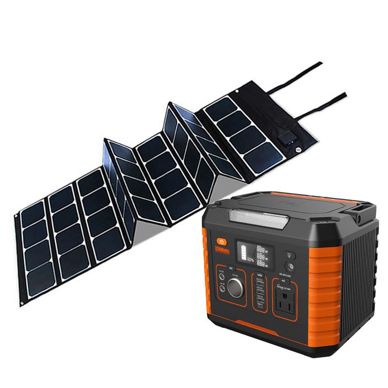Car Video Lithium Battery Energy Storage System 500w 1000w Portable Solar Power Generator For Digital Cameras